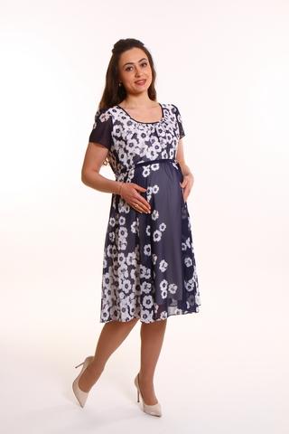 Платье для беременных 08677 синий