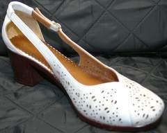 Босоножки с закрытой пяткой и носком Marani Magli 031 405 White.
