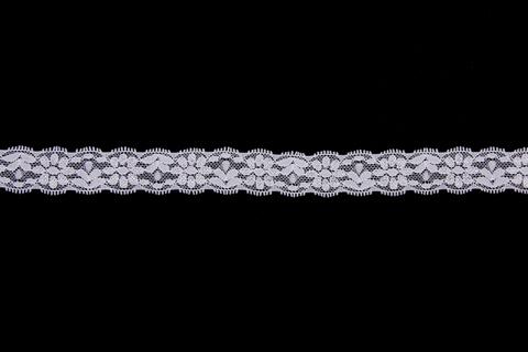 Кружево эластичное белое 2 см