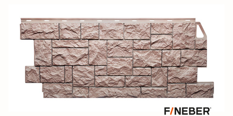Фасадная панель Fineber Камень дикий терракотовый 1117х463 мм