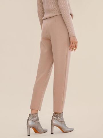 Женские брюки бежевого цвета из 100% шерсти - фото 3