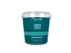OLLIN blond performance aroma mint осветляющий порошок с ароматом мяты 500г/ blond powder with mint aroma