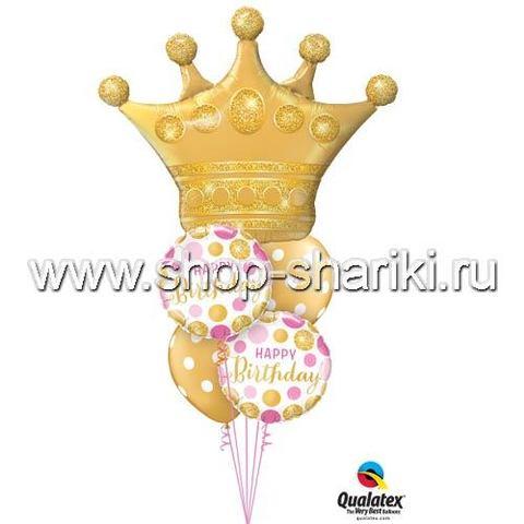 Фонтан из шаров на день рождения Королеве