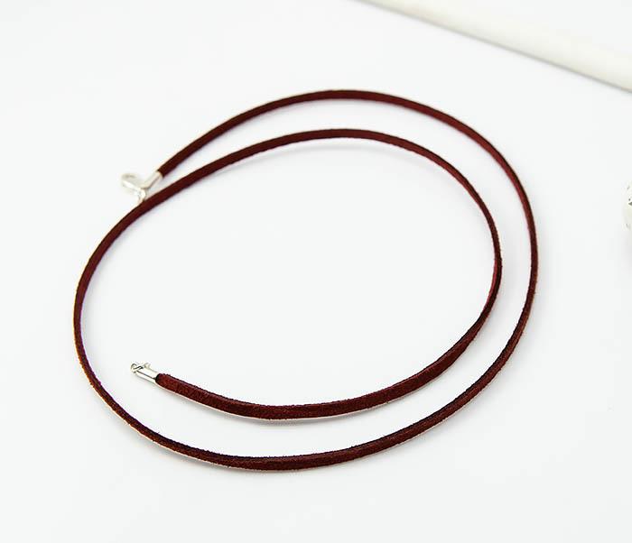 PL284-6 Кожаный (замшевый) шнурок для кулона фото 02