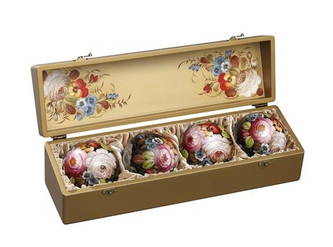 Набор из 4 елочных шаров в шкатулке SET04D-667785832