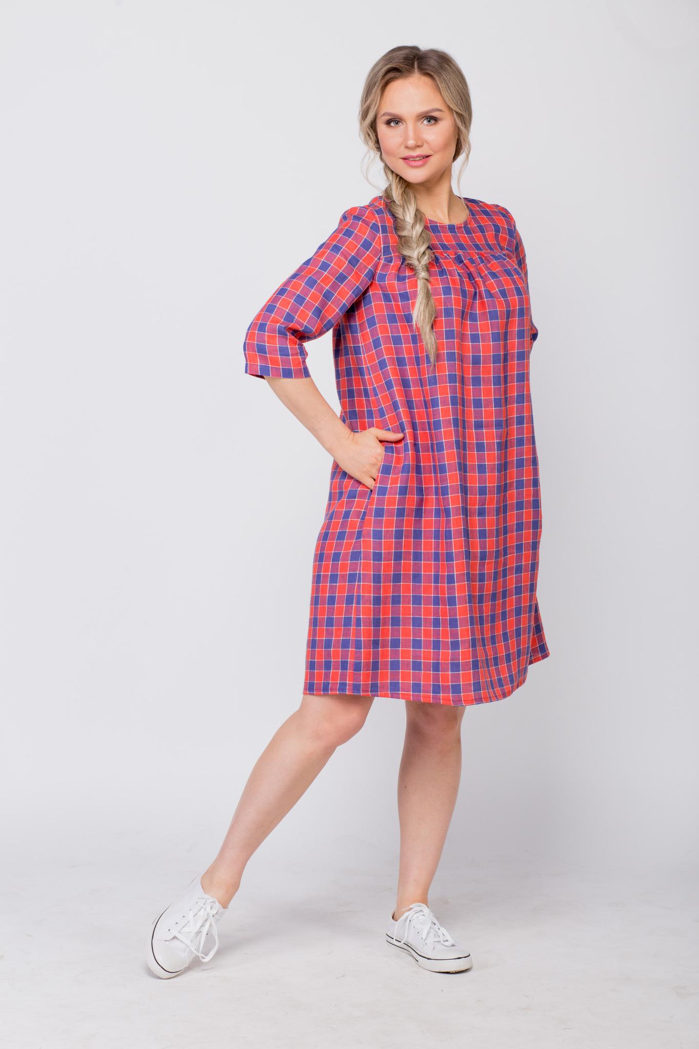 Платье льняное Хобби с карманом