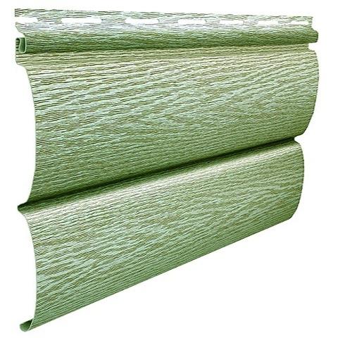 Сайдинг Ю пласт Тимберблок акриловый ясень зеленый 3400х230 мм