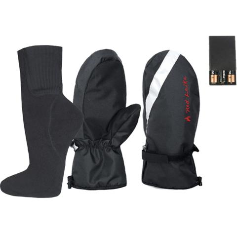 Комплект-подарок рукавицы с подогревом RedLaika RL-R-02(AA) и носки RL-N-AA
