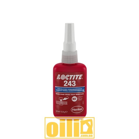 Loctite 243 THREADLOCKER 50мл