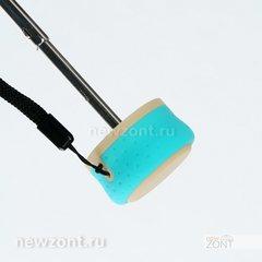 Стильный женский мини зонт ArtRain бирюзовый, механический