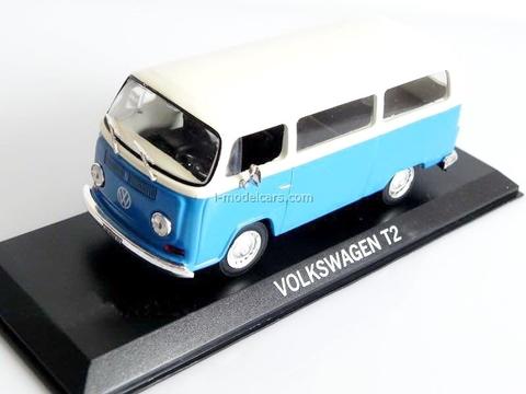 VW T2 Volkswagen blue-white 1:43 DeAgostini Masini de legenda #75