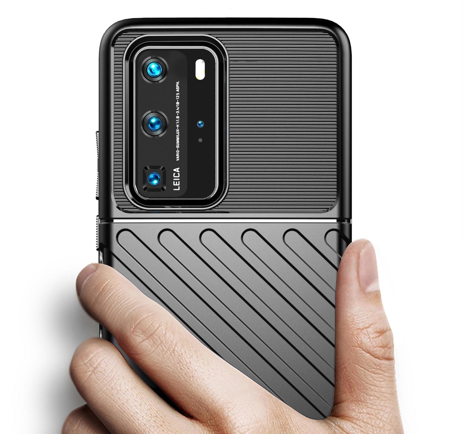Чехол защитный синего цвета на Huawei P40 Pro, серии Onyx от Caseport