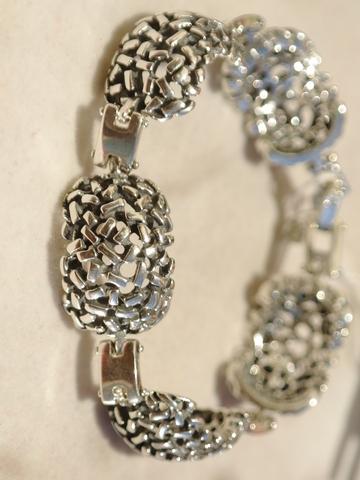 Муравейник (серебряный браслет)