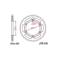 Звезда задняя (Ведомая) JT Sprockets JTR210.49 1-3559-49