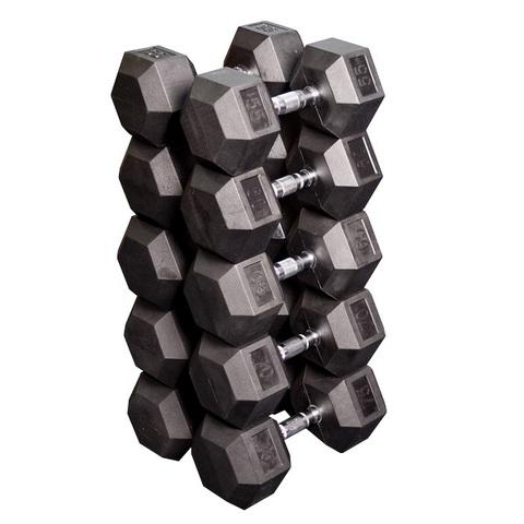 Набор гексагональных гантелей SDRS650