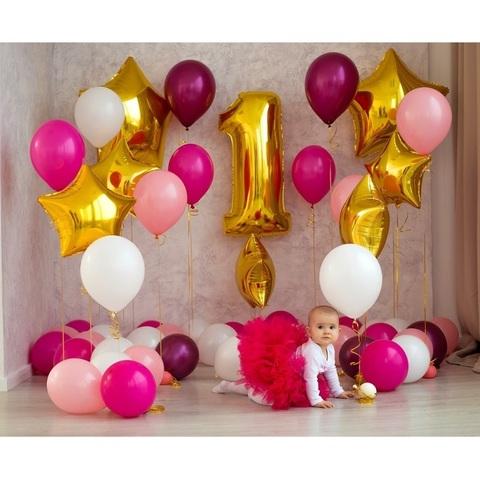 Фотозона из шаров для малышки