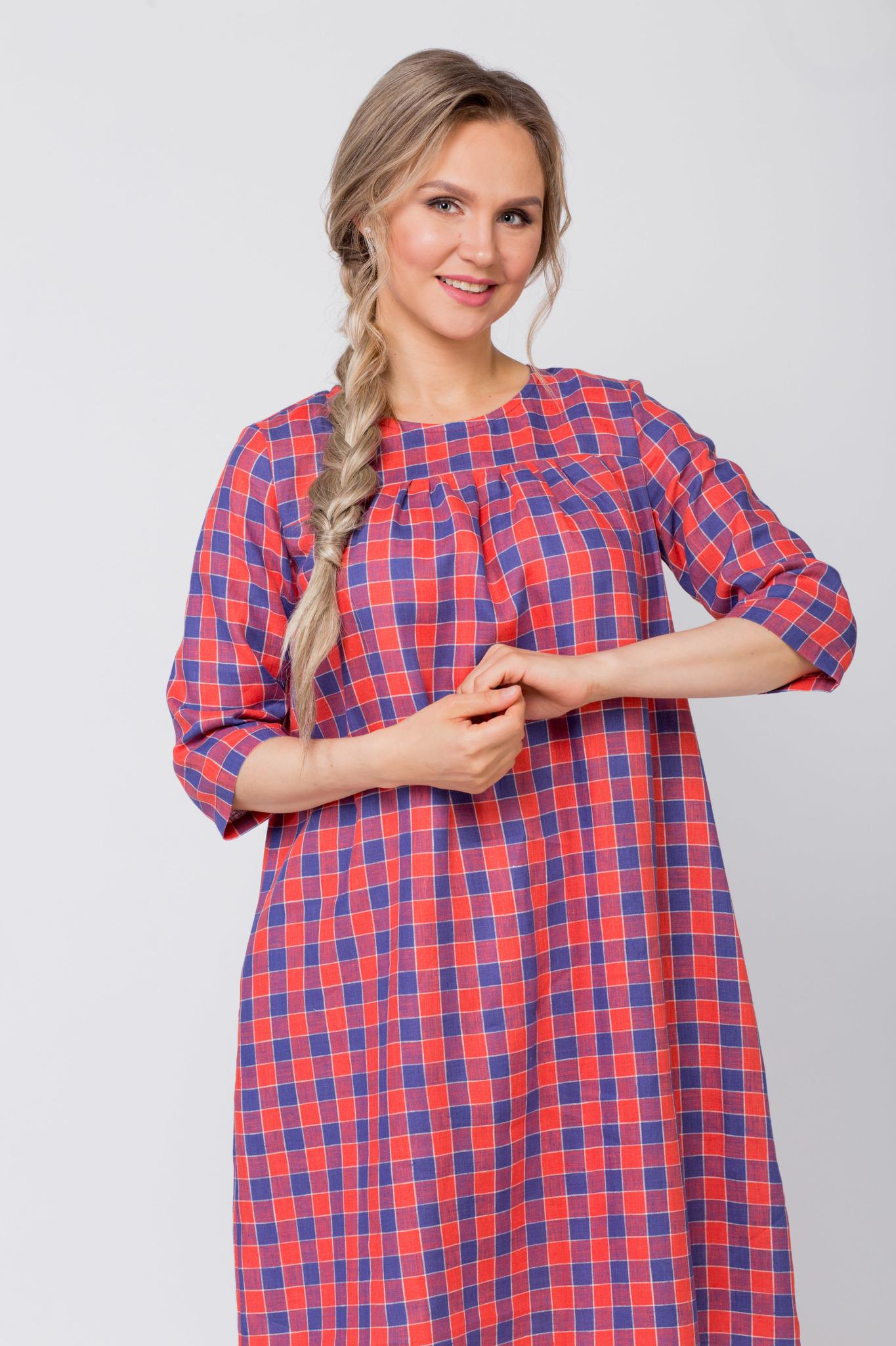 Платье льняное Хобби приближенный фрагмент