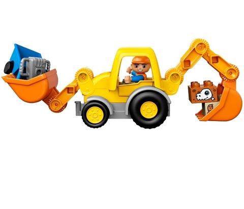 LEGO Duplo: Экскаватор-погрузчик 10811 — 10811 Backhoe Loader — Лего Дупло