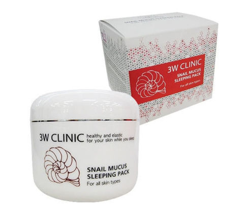 3W CLINIC Маска для лица ночная УЛИТОЧНЫЙ МУЦИН Snail Mucus Sleeping Pack, 100 мл
