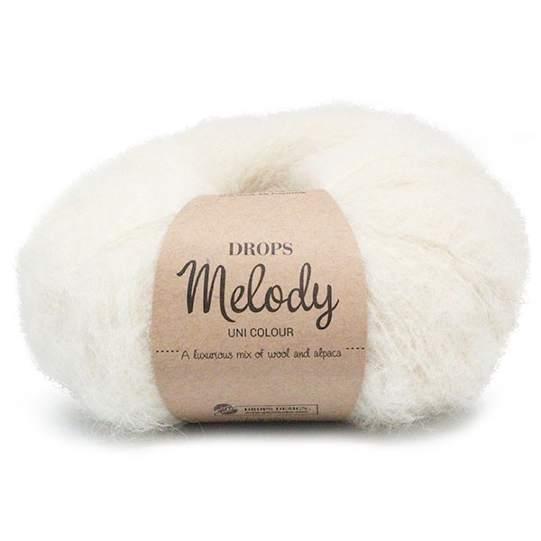 Пряжа Drops Melody 01 молочный