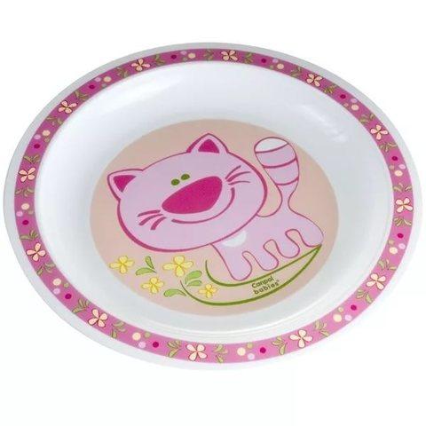 Тарелка пластиковая (4/411) 12+ (розовый)