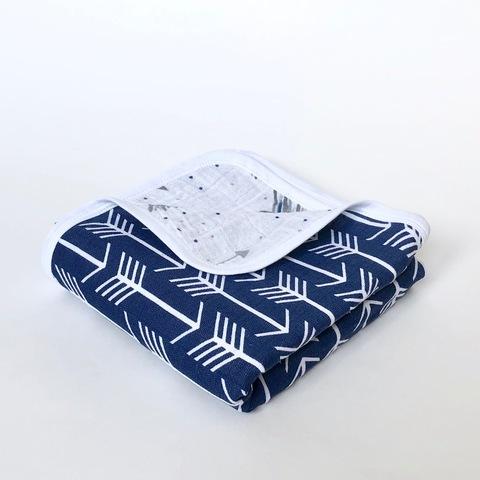 Муслиновое одеяло Mjölk Стрелы на синем