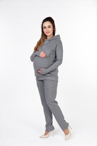 Спортивный костюм для беременных и кормящих 10055 серый