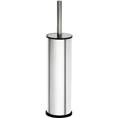 Ершик для унитаза Luscan напольный с подставкой из нержавеющей стали цилиндрический серебристый