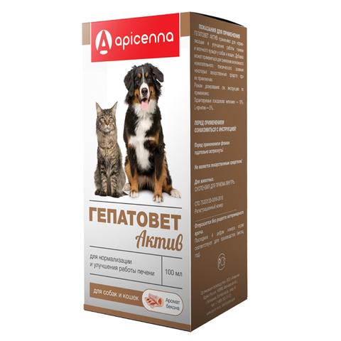 Гепатовет Актив (суспезия для лечения печени у собак и кошек) 100мл