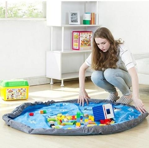 Игровой коврик органайзер для игрушек круглый