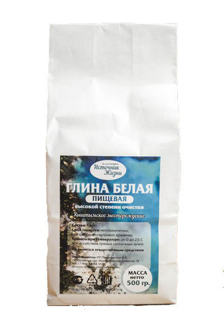 Источник жизни глина белая 500 г