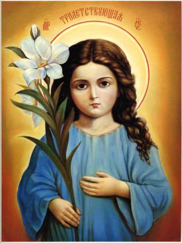 Икона Божией Матери Трилетствующая на дереве на левкасе мастерская Иконный Дом