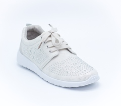 Металлизированные кроссовки из текстиля