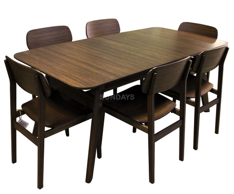 Комплект обеденной мебели Greenington CURRANTE G-0022-BL/G-0023-BL, бамбук, черный орех