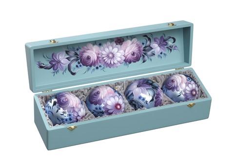 Набор из 4 елочных шаров в шкатулке SET04D-667785831