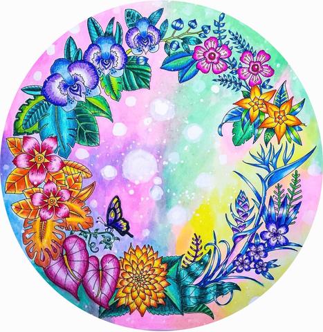 Печать на сахарной бумаге, Цветы 5