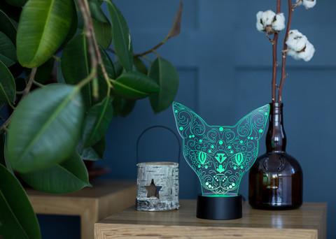 Лампа Кошка с алмазом