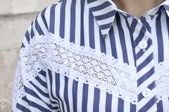 Астра. Летняя рубашка больших размеров. Синий.