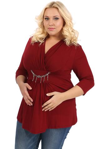 Блуза ПБВ01 бордо для беременных
