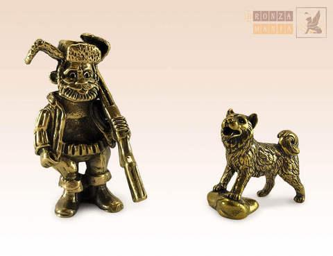 фигурка Охотник с собакой