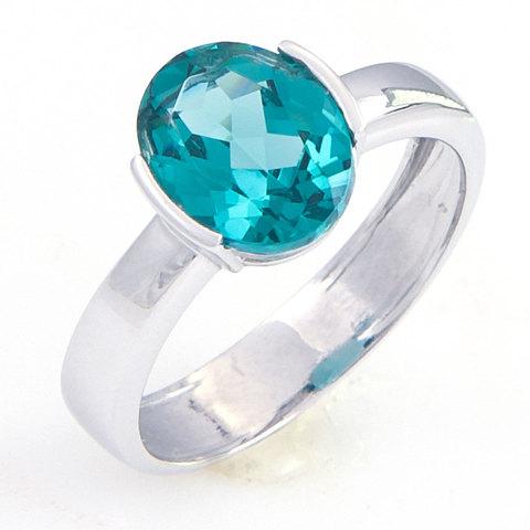 Кольцо из серебра с турмалином параиба Арт.1183п