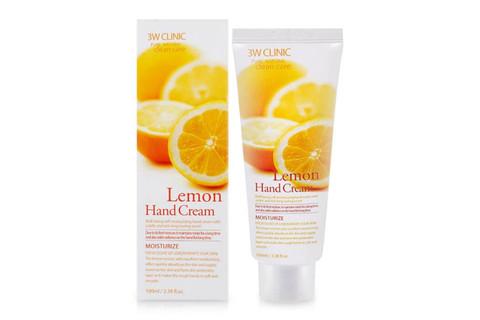 Крем для рук увлажняющий с экстрактом лимона 3W CLINIC Lemon Hand Cream 100 мл