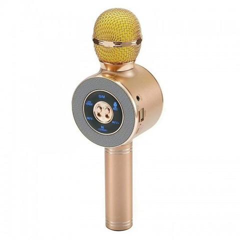 Микрофон караоке WS 668 с колонкой и подсветкой