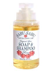 Тонизирующий гель для душа и шампунь 2 в 1 с маслом розы, Sabu-Sabu