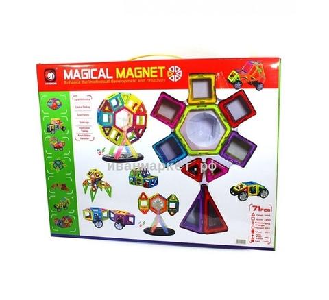 Магнитный конструктор 71 деталь Magical Magnet
