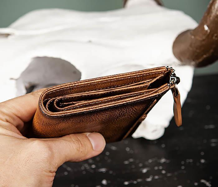 WL331-2 Мужское портмоне из натуральной коричневой кожи фото 11