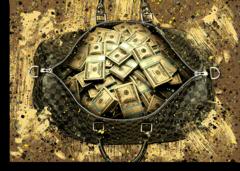 "Постер ""Золотая сумка  LOUIS VUITTON"""