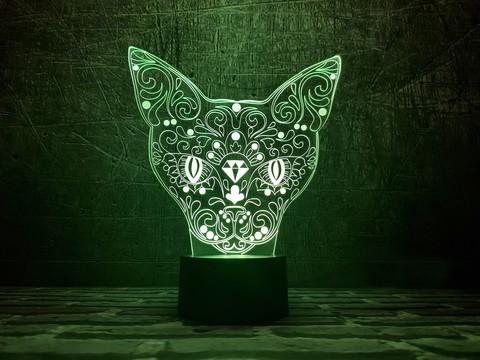 Светильник Кошка с алмазом
