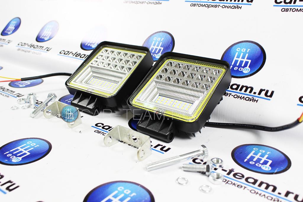 Светодиодные LED балки (вспышки ФСО) максимальной мощности, 42 диода с ДХО, 65W (2шт.)