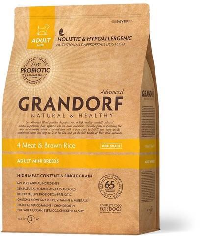 Grandorf 4 meat & Brown Rice Adult Mini Breeds